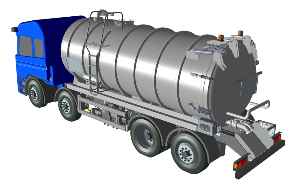 We create rigid waste vacuum tankers for a range of products